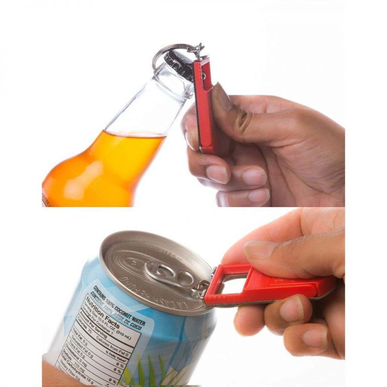 EH Keychain opening a beer bottle and can